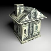 House from money. Business concept Stock Photos