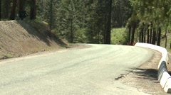 Stock Video Footage of motorsports, hillclimb, short straight, blue Honda civic