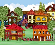 Town Stock Illustration