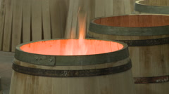 Manufacture of barrels Stock Footage