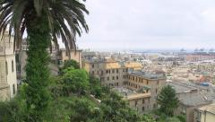 ITALY - Genova old city and harbor  Stock Footage