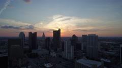 Stock Video Footage of Columbus, Ohio - Skyline Sunset 4_AERIAL