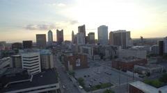 Columbus, Ohio - Skyline Sunset 6_AERIAL Stock Footage