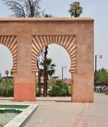 Koutoubia Mosque archway - stock photo