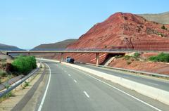morocco highway - stock photo