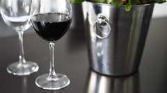 wine in a wineglass - stock footage