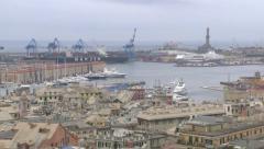 ITALY - Genova old city and harbor - stock footage