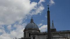 Time lapse from Basilica di Santa Maria Maggiore in Rome Stock Footage