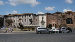 Traffic at Piazza della Repubblica in Rome Stock Footage