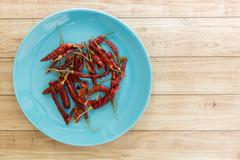 Dried Red Chilli, Thai Food Ingredient Stock Photos
