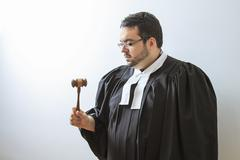 Concentrating on the gavel Stock Photos