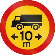 Lorry Length Limit In Iceland - stock illustration