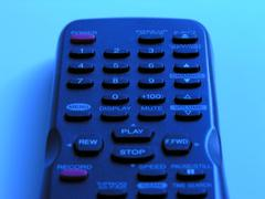 Close Up of Television Remote Control Stock Photos