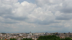 Time lapse from Rome City view from passeggiata del gianicolo in Italy Stock Footage