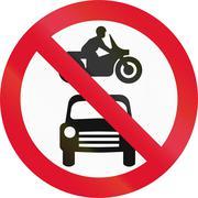 No Motor Vehicles In Hong Kong - stock illustration