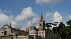 Time lapse from Basilica Parrocchiale Santa Maria del Popolo in Rome Italy Stock Footage