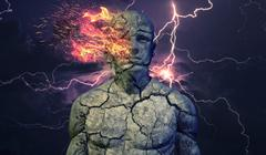 Abstract Human Concept 02 Dark Sky - stock illustration