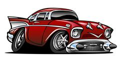 Classic American Hot Rod Cartoon Illustration Stock Illustration