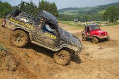 Trial race - stock photo