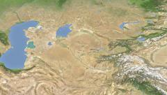 Uzbekistan on maps - Do It Yourself as you like. Neighbourhood Stock Footage