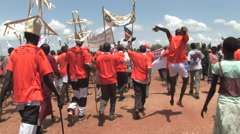 The Protesting Africans of SOUTH SUDAN, AFRICA Stock Footage