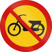 No Mopeds in Iceland Stock Illustration