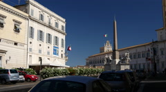 Quirinal Palace the current official residence of the President Stock Footage