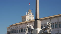 Stock Video Footage of Quirinal Palace the current official residence of the President