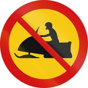 No Snowmobiles in Iceland - stock illustration
