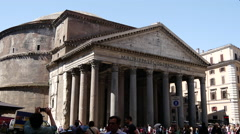 The Pantheon in Rome Stock Footage