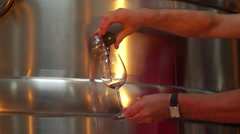 Winemaker serve glass of wine Stock Footage