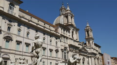 Piazza Navona in Rome Stock Footage