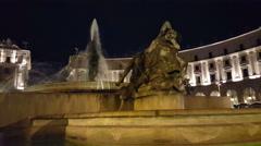 Piazza della Repubblica by night Stock Footage