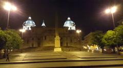 Santa Maria Maggiore church by night Stock Footage