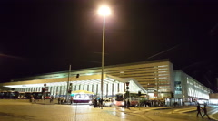 Termini station by night Stock Footage