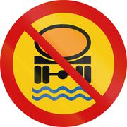 No Goods Dangerous To Water Reserves In Iceland - stock illustration