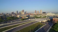 Stock Video Footage of Columbus Freeway_5_AERIAL