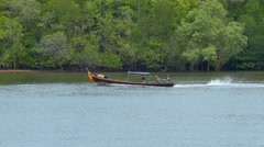 Longtail Boat Krabi, Thailand Stock Footage
