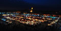 Jemaa El Fna square - stock photo