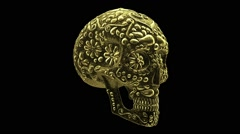 Mexican skull animation Stock Footage