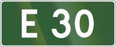 Stock Illustration of European Road 30 In Poland