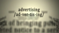 Definition: Advertising Stock Footage