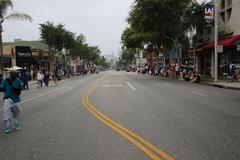 Stock Photo of People waiting for the parade to start during Los Angeles pride 2015