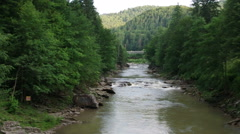 Prut's mountain river rapids Stock Footage