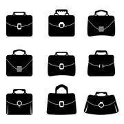 Briefcase Icons Stock Illustration