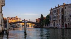 Venice Academy bridge 4k Stock Footage