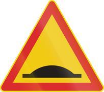 Finnish Speed Bump Sign Stock Illustration