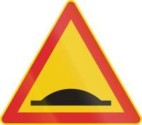 Stock Illustration of Finnish Speed Bump Sign