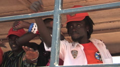 Stock Video Footage of RAPPER SINGS AT POLITICAL RALLY IN SOUTH SUDAN, AFRICA