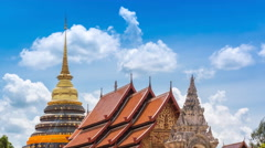 Wat Phra That Lampang Luang Famous Temple Of Lampang, Thailand (pan shot) Stock Footage